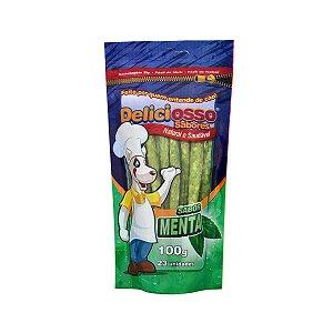 Osso Deliciosso Palito Sabor Menta para Cães - 100g