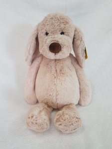 Mochila Cachorro de Pelúcia Bege (35cm) – Fofy Toys