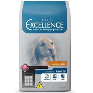 Ração Dog Excellence para Cães Filhotes de Raças Médias - Frango e Arroz 15Kg