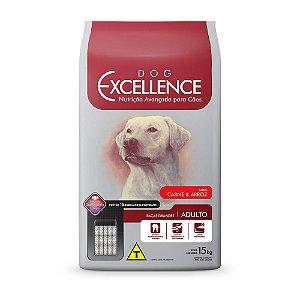 Ração Excellence para Cães Adultos de Raças Grandes Sabor Carne e Arroz - 15kg