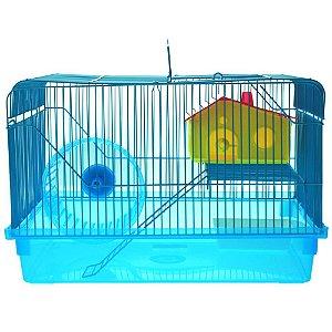 Gaiola American Pets Hamster 2 Andares - Azul