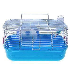 Gaiola American Pets Hamster Completa Pop Star - Azul