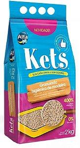Granulado de madeira Kets para gatos - 2kg