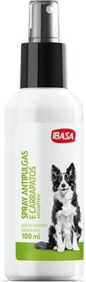 Spray Antipulgas e carrapatos Ibasa - 100 ml