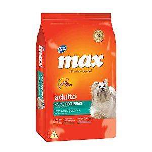 Ração Max Adulto Raças Pequenas - Premium Especial - Carne, Cereais e Legumes - 10,1 Kg