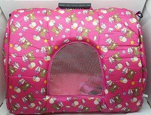 Bolsa Para Transporte Visual Dog  G em Tec Tel para cães de pequeno porte - Rosa