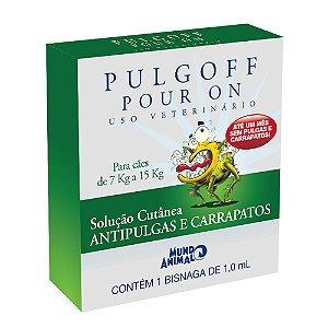 Coleira Antipulgas e Carrapatos Pulgoff - Média 45 cm - Cães de 7 a 15 Kg