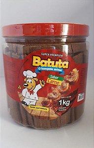 Bifinho canino Sabor Carne - Batuta 1,0 kg