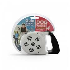 Guia Retrátil 5 metros Dog Walker - Fita Plus 5 metros (Suporta até 30 kg )