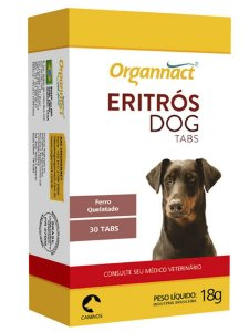 Eritrós Dog Tabs Organnact 30 Tabletes