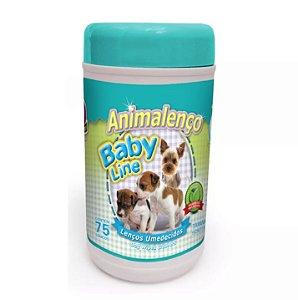 Lenços Umedecidos Animalenço Baby Line para Filhotes Animalíssimo 75 unidades