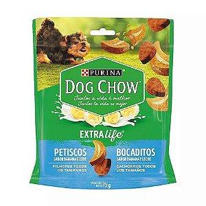 Petisco Nestlé Purina Dog Chow Bocaditos para Filhotes sabor Banana e Leite 75g