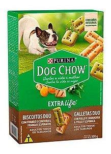 Biscoito para cães adultos de Todos os tamanhos - Dog Chow Duo 500g