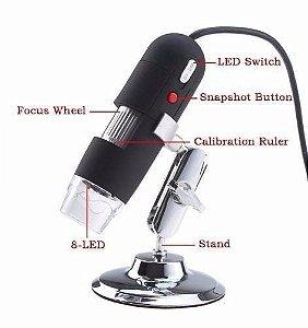 Microscópio Digital Usb Zoom 500x Câmera 2.0mp Pronta Entrega