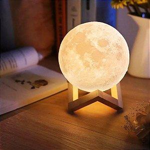 Luminária Abajur Lua Cheia 15 Cm - Pronta Entrega 3d 2 Cores