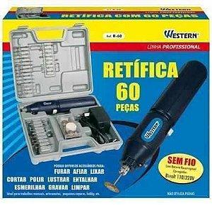 Micro Retifica Eletrica Bi-volt R 60 Com 62 Acessorios