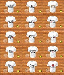 Camisa Personalizada Unissex Estampada Profissões Diversas