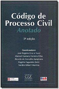 Cóigo de Processo Civil - Anotado - 03Ed/18
