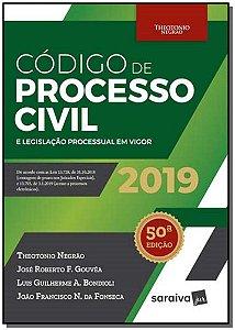 Código de Processo Civil e Legislação Processual em Vigor - 50Ed/19