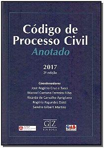 Código de Processo Civil - Anotado - 02ED/17