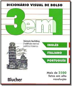 Dicionário Visual de Bolso 3 em 1 - Inglês, Italiano, Português