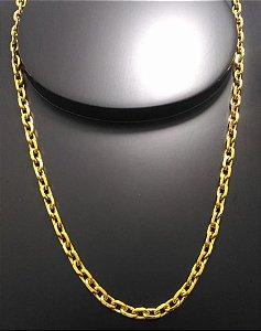 Corrente Cartier Cadeado 70cm 5mm Banhada a Ouro 18K