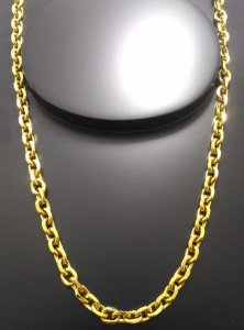 Corrente Cartier Cadeado 70cm 7mm Banhada a Ouro 18K