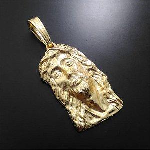 Pingente Face de Cristo Banhado a Ouro 18K