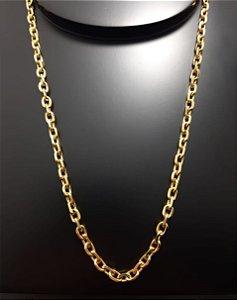 Corrente Cartier Cadeado 80cm 5mm Banhada a Ouro 18K