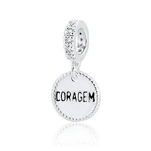 Berloque de Prata Medalha Coragem