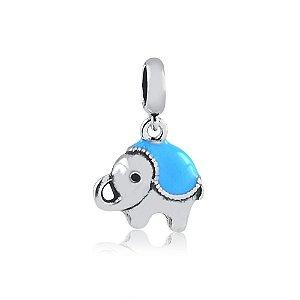 Berloque de Prata Elefante Azul