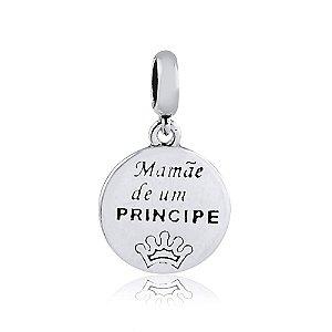 Berloque de Prata Mãe de um Príncipe