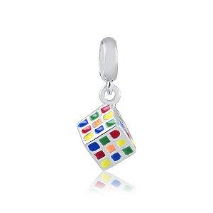 Berloque de Prata Cubo Mágico
