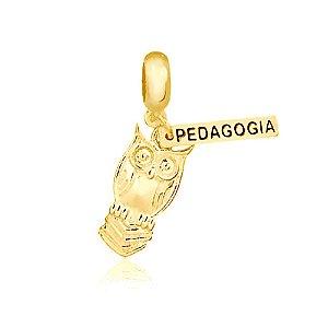 Berloque Símbolo Pedagogia Folheado a Ouro