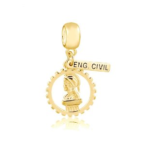 Berloque Símbolo Engenharia Civil folheado a Ouro