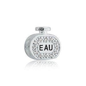Berloque de Prata Perfume com Zircônias