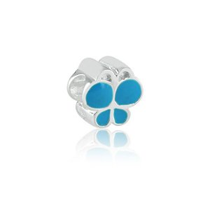 Berloque de Prata Borboleta Azul