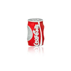 Berloque de Prata Lata de Coca-Cola