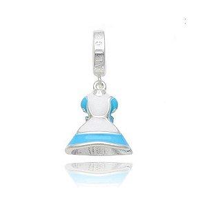Berloque de Prata Vestido Alice