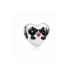 Berloque de Prata Coração Namorados