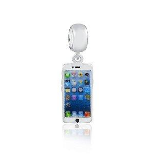Berloque de Prata Celular IPhone
