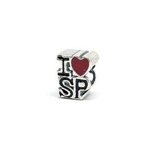 Berloque de Prata I Love SP