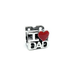 Berloque de Prata I Love Dad - Pai