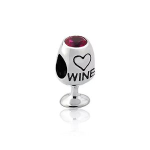 Berloque de Prata Taça de Vinho