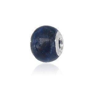Berloque Separador Tipo Murano Azul