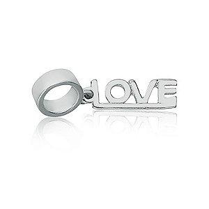 Berloque de Prata Pingente Love