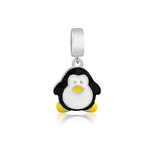 Berloque de Prata Pingente Pinguim
