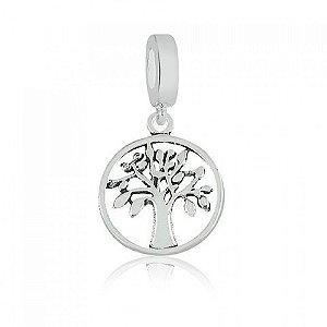 Berloque de Prata Árvore da Vida e Família