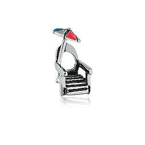 Berloque de Prata Cadeira de Praia
