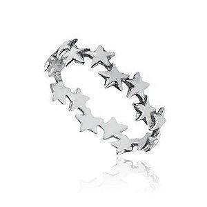 Anel de Prata Estrelas